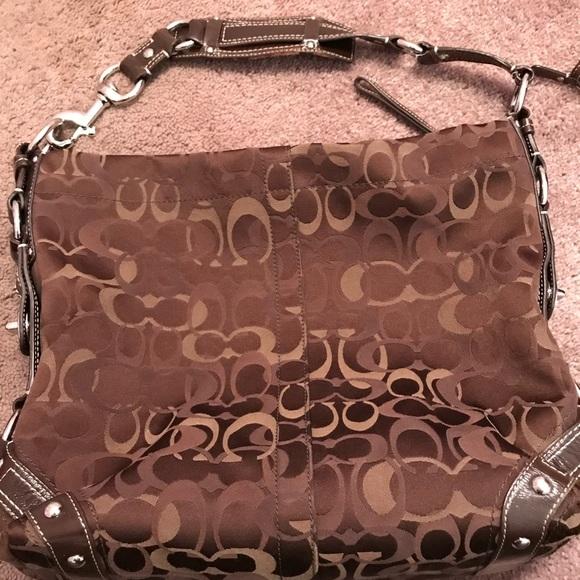 Coach Handbags - Coach Large Signature Carly hobo bag 9297cab493cff